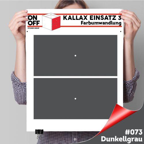 Kallax Einsatz 3 (2 Schubladen) #073 Dunkelgrau