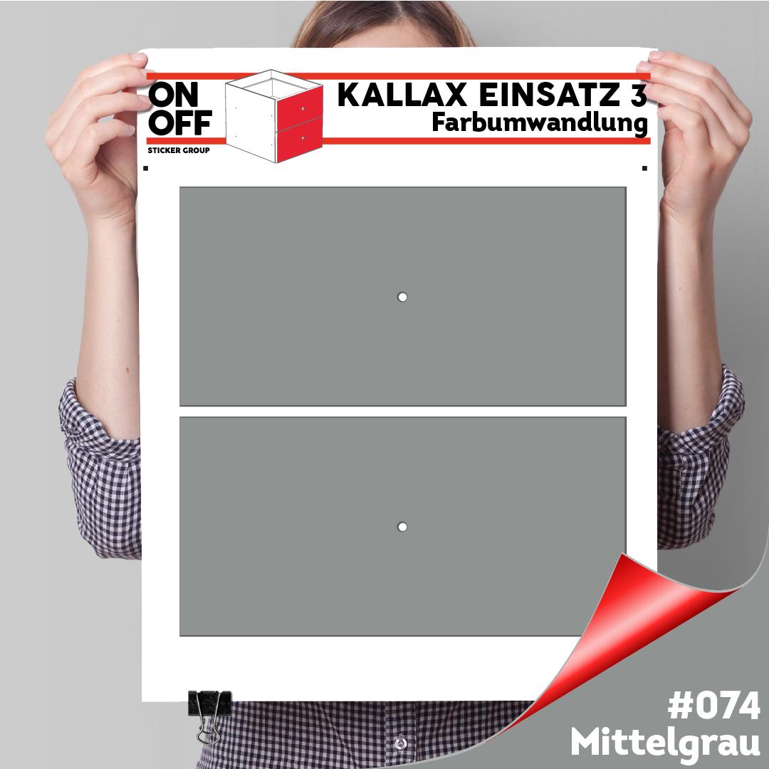 Kallax Einsatz 3 (2 Schubladen) #074 Mittelgrau