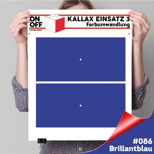 Kallax Einsatz 3 (2 Schubladen) #086 Brillantblau