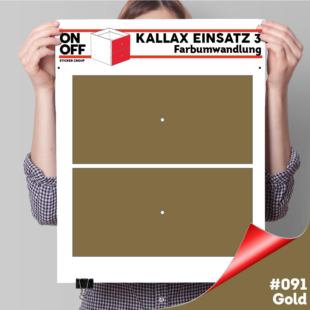 Kallax Einsatz 3 (2 Schubladen) #091 Gold