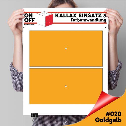 Kallax Einsatz 3 (2 Schubladen) #20 Goldgelb