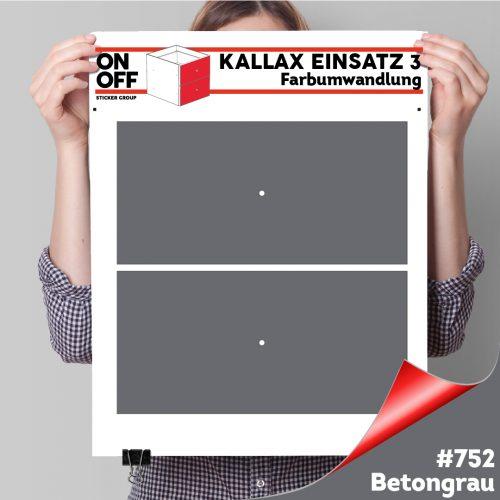 Kallax Einsatz 3 (2 Schubladen) #752 Betongrau