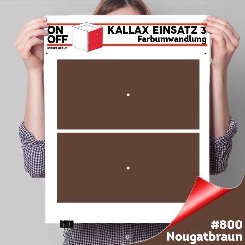 Kallax Einsatz 3 (2 Schubladen) #800 Nougatbraun