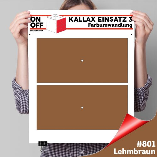 Kallax Einsatz 3 (2 Schubladen) #801Lehmbraun