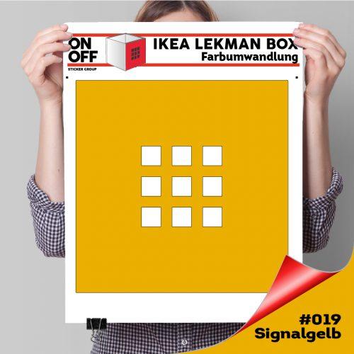 LekmanBox #019 Signalgelb