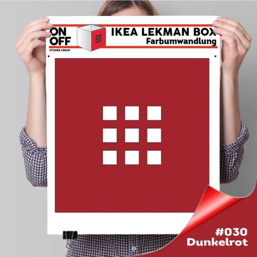 LekmanBox #030 Dunkelrot