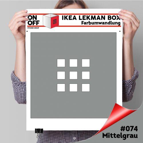 LekmanBox #074 Mittelgrau
