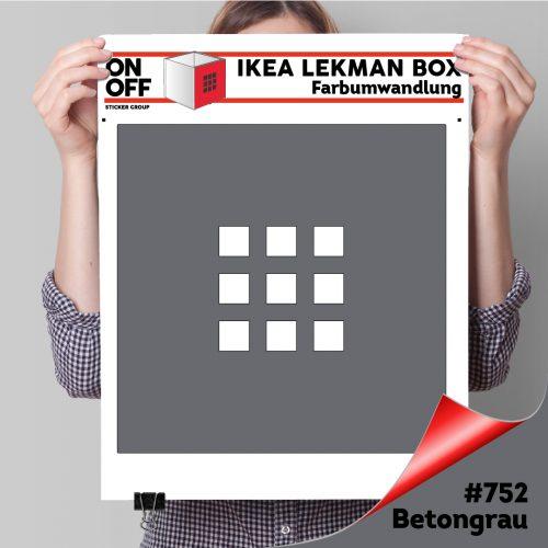 LekmanBox #752 Betongrau