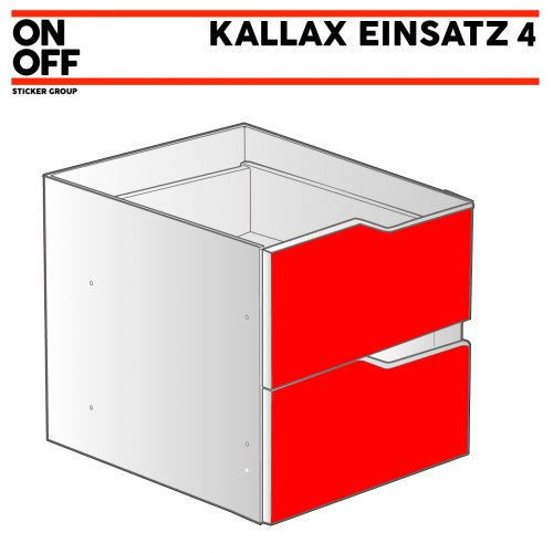 IKEA KALLAX Einsatz mit 2 Schubladen (Welle)