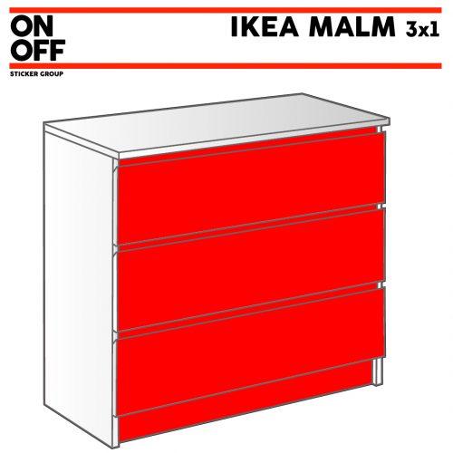 IKEA MALM Kommode mit 3 Schubladen (80x78cm)