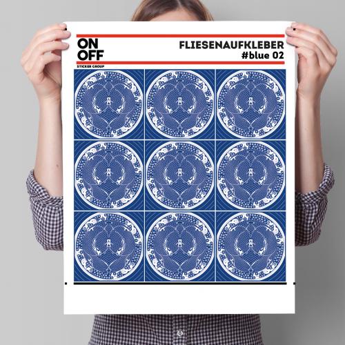 FLIESENAUFKLEBER #BLUE_02 20X20CM