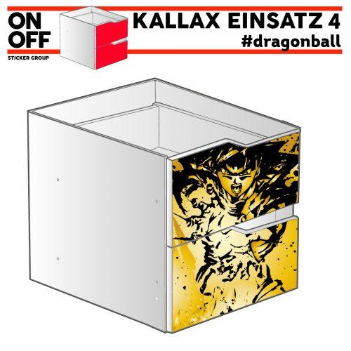 #dragonball IKEA KALLAX Einsatz mit 2 Schubladen (Welle)
