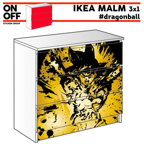 #dragonball IKEA MALM Kommode mit 3 Schubladen (80x78cm)