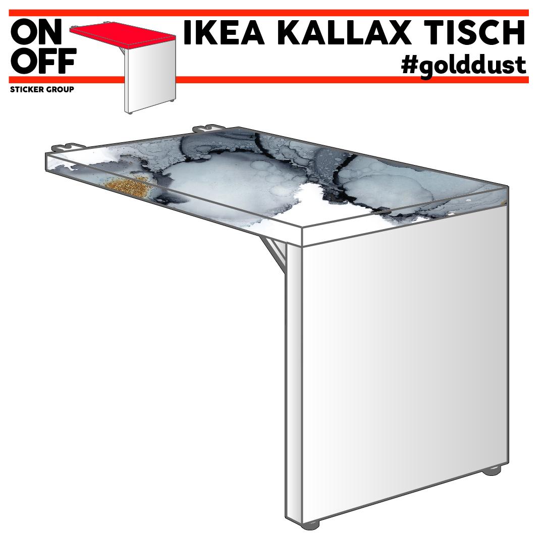 IKEA KALLAX TISCH #golddust