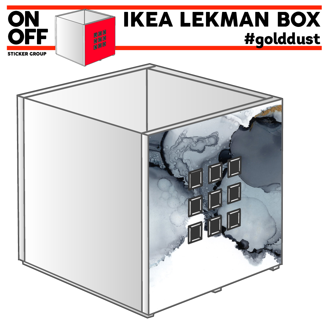 IKEA LEKMAN BOX #golddust