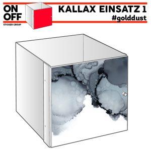 IKEA EKALLAX EINSATZ MIT TÜR #golddust