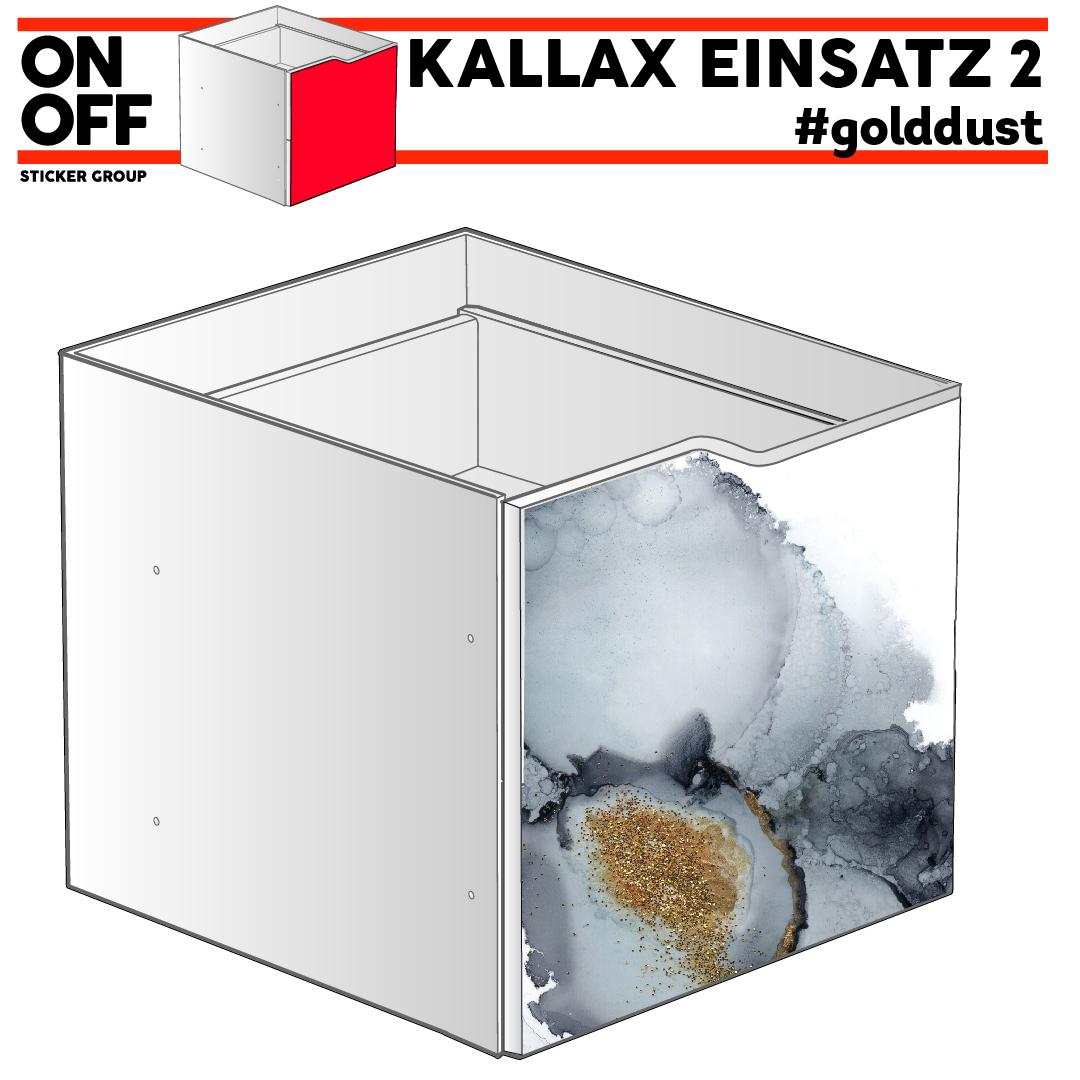 IKEA KALLAX EINSATZ MIT WELLE #golddust