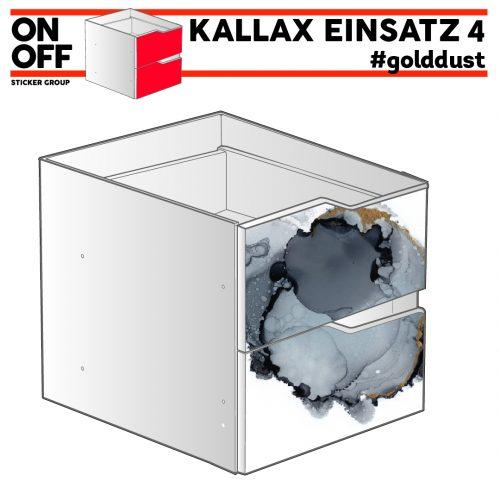 #golddust IKEA KALLAX Einsatz mit 2 Schubladen (Welle)