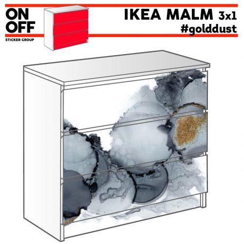 #golddust IKEA MALM Kommode mit 3 Schubladen (80x78cm)