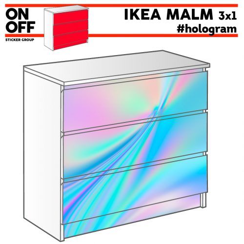 #hologram IKEA MALM Kommode mit 3 Schubladen (80x78cm)