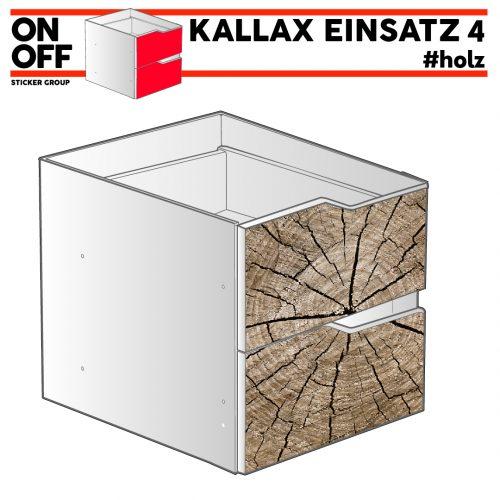 #wood IKEA KALLAX Einsatz mit 2 Schubladen (Welle)