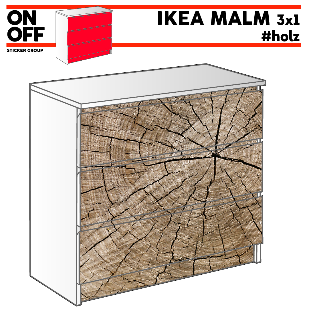 #wood IKEA MALM Kommode mit 3 Schubladen (80x78cm)