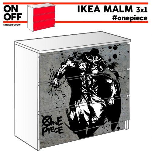 #onepiece IKEA MALM Kommode mit 3 Schubladen (80x78cm)