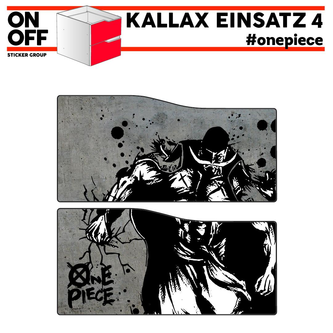 #onepiece IKEA KALLAX Einsatz mit 2 Schubladen (Welle)