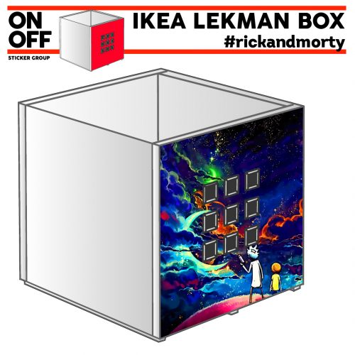 #rickandmorty IKEA KALLAX Einsatz Lekman Box