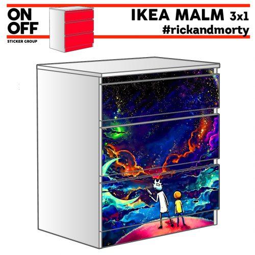 #rickandmorty IKEA MALM Kommode mit 3 Schubladen (80x78cm)