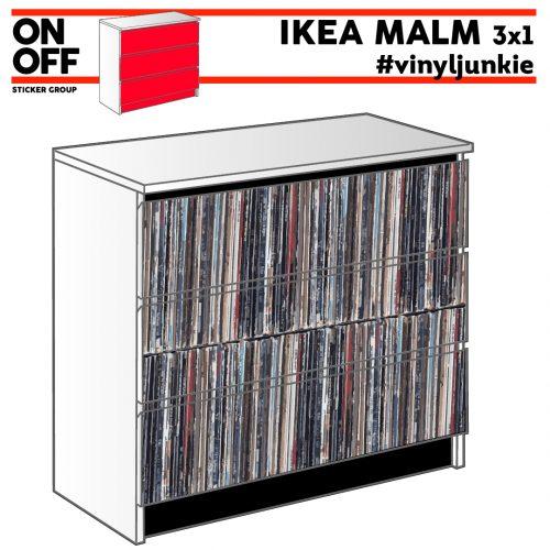 #cdl #vinyljunkie IKEA MALM Kommode mit 3 Schubladen (80x78cm)