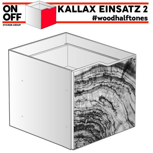 #woodhalftone IKEA KALLAX Einsatz mit Welle