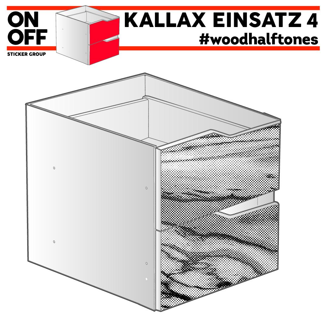 #woodhalftone IKEA KALLAX Einsatz mit 2 Schubladen (Welle)