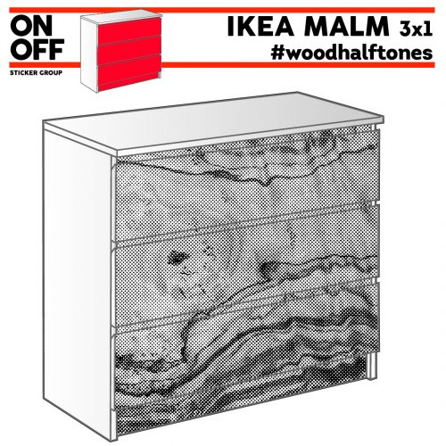 #woodhalftone IKEA MALM Kommode mit 3 Schubladen (80x78cm)
